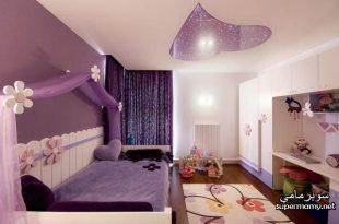 صورة ديكور جبس غرف نوم بنات , اجمل ديكورات جبسية لغرف البنات