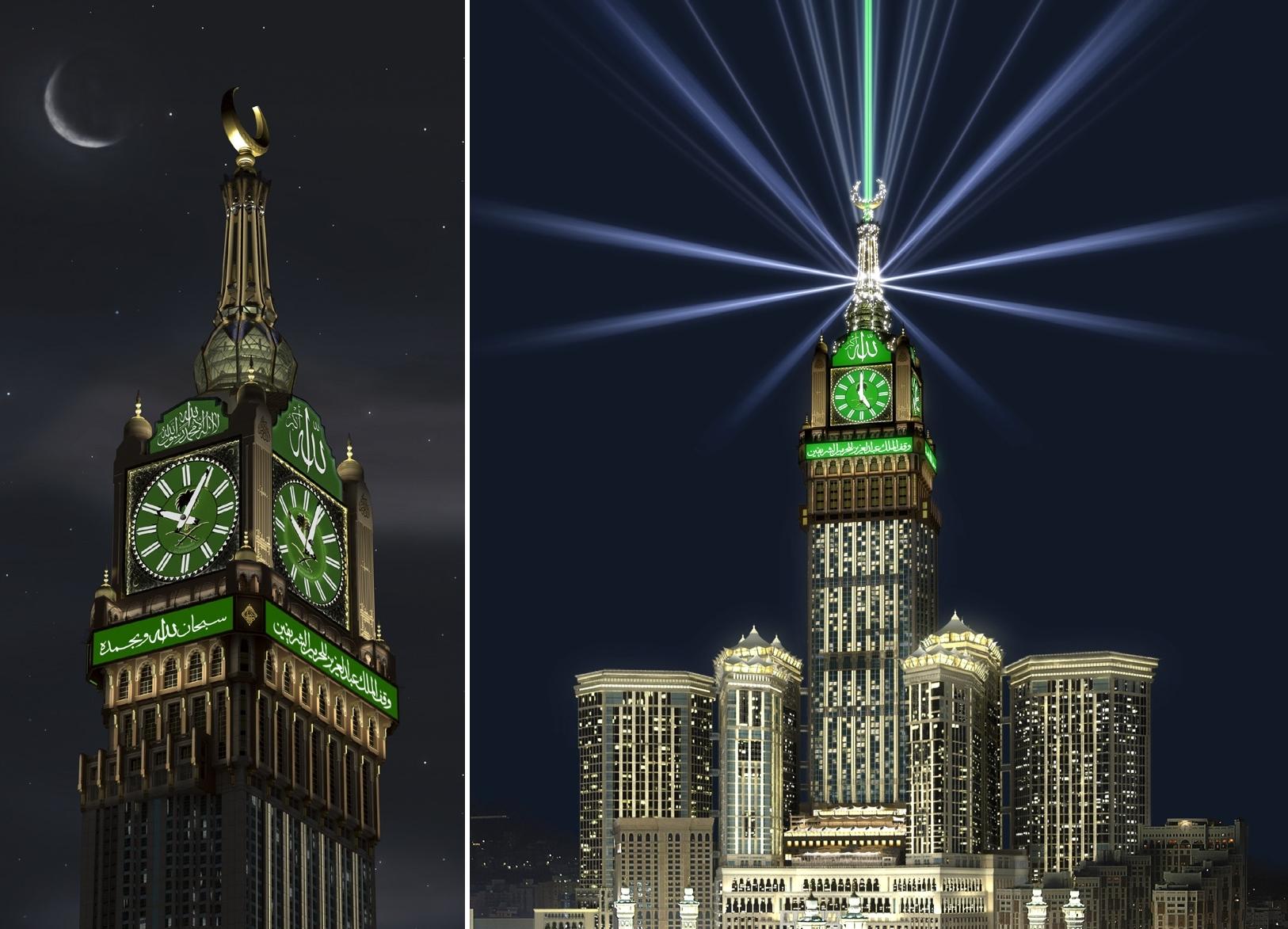 صور صور ساعة مكة , اجمل الصور لاكبر ساعة ببرج