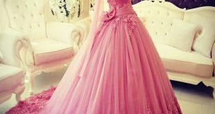 صور عروس , فساتين محجبات زفاف ملونة روعة