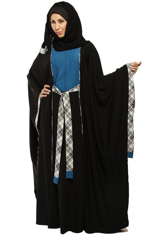 صورة صور عبايات محجبات , تصاميم خليجية لارقي العبايات 1309 6