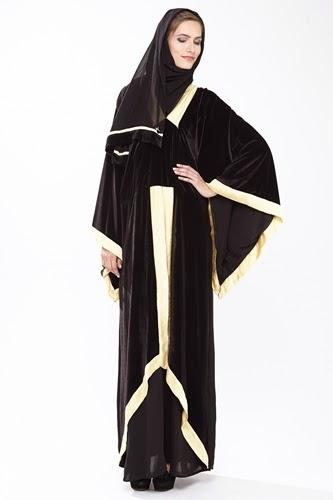 صورة صور عبايات محجبات , تصاميم خليجية لارقي العبايات 1309