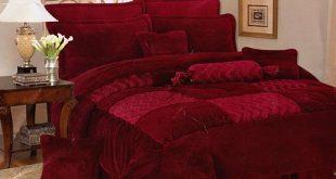 صورة مفارش غرف نوم , مفارش قطيفة لغرف النوم