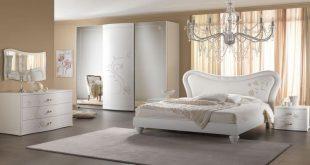 صوره غرف نوم لون ابيض , غرف نوم لعشاق الهدوء