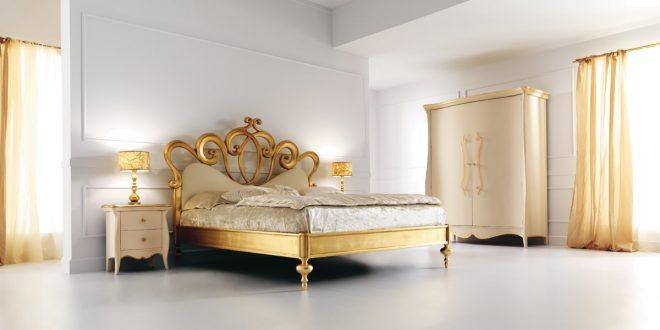 صور اجمل تصاميم غرف النوم , غرف نوم باللون الذهبي