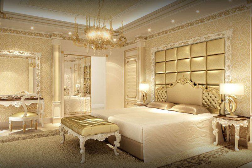 بالصور اجمل تصاميم غرف النوم , غرف نوم باللون الذهبي 3217 7