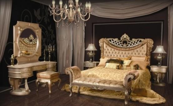بالصور اجمل تصاميم غرف النوم , غرف نوم باللون الذهبي 3217 8