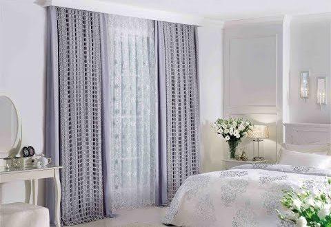 صور ستائر غرف نوم ناعمة , براقع شيفون لغرف النوم