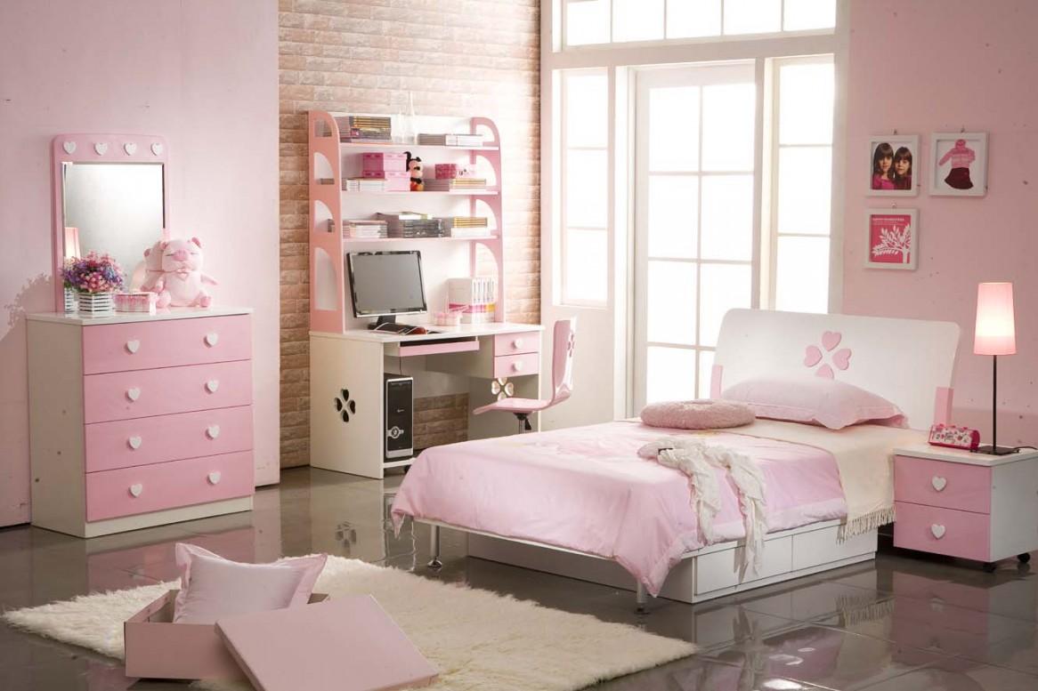 صور غرف نوم بنات مودرن , غرف بنات كيوت باللون الوردي