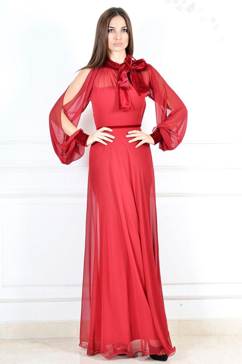 صورة فساتين طويلة ناعمة , اشيك فستان للبنات