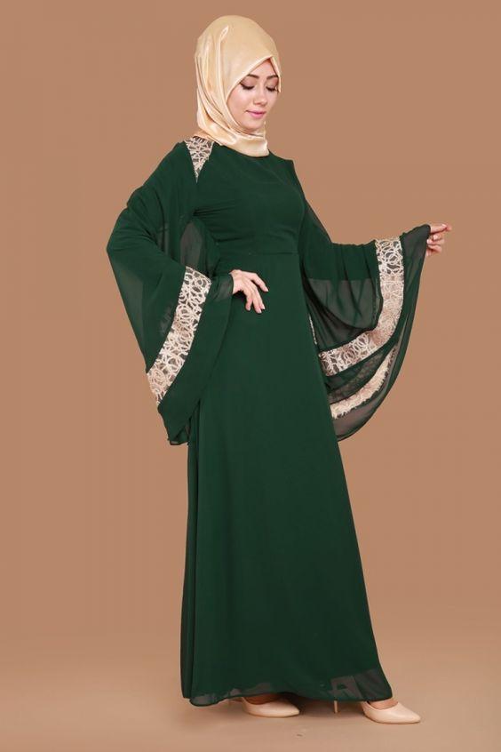صورة فساتين طويله فخمه , اروع تصميمات فستان انيقة للمحجبة