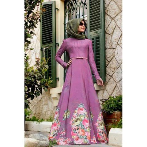 صوره فساتين محجبات تركية صيفية , تصميمات تركية حديثة لفستان السهرة الصيفي المناسب للفتاة المحجبة