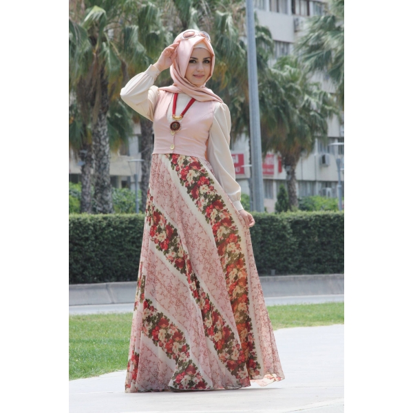 بالصور فساتين محجبات تركية صيفية , تصميمات تركية حديثة لفستان السهرة الصيفي المناسب للفتاة المحجبة 4842 2