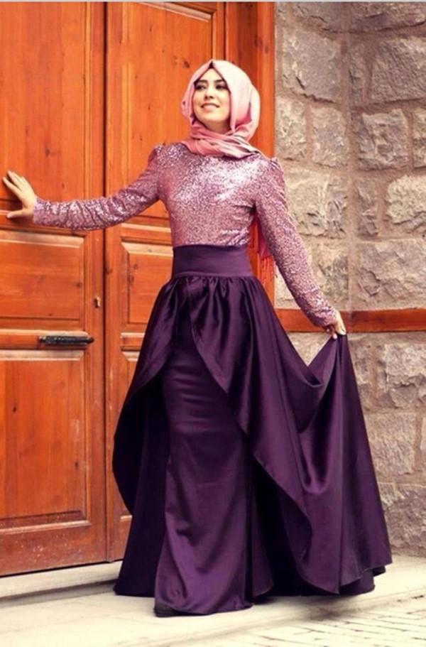 بالصور فساتين محجبات تركية صيفية , تصميمات تركية حديثة لفستان السهرة الصيفي المناسب للفتاة المحجبة 4842 6