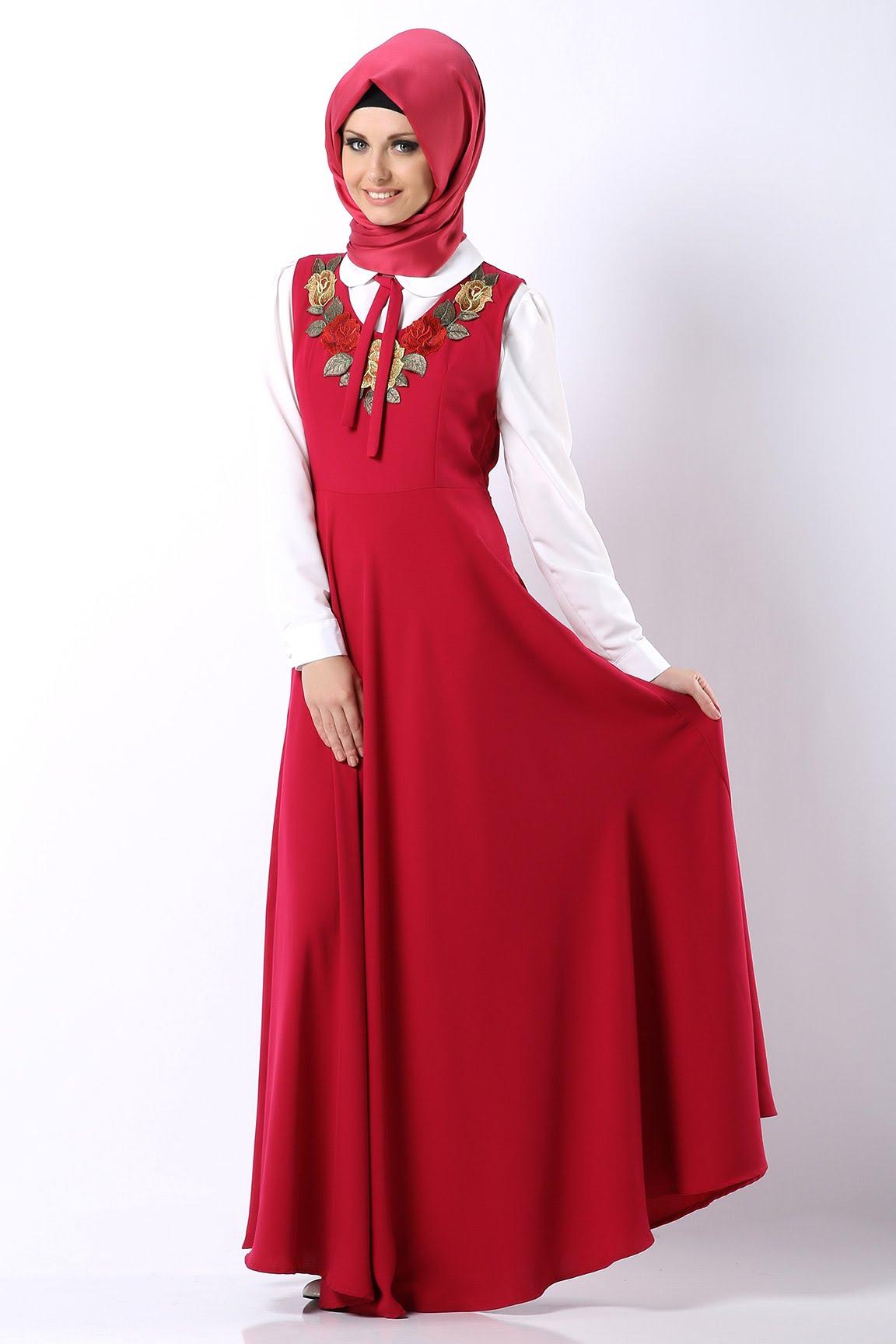 بالصور فساتين محجبات تركية صيفية , تصميمات تركية حديثة لفستان السهرة الصيفي المناسب للفتاة المحجبة 4842 7