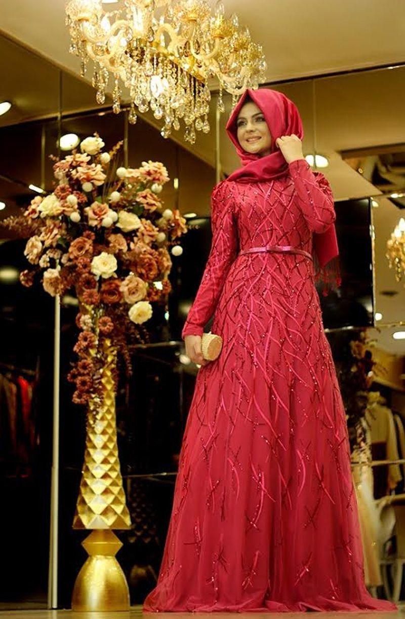 بالصور فساتين محجبات تركية صيفية , تصميمات تركية حديثة لفستان السهرة الصيفي المناسب للفتاة المحجبة 4842 8
