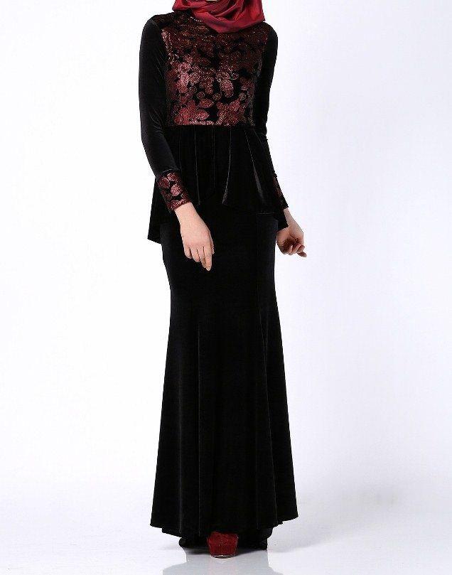 بالصور فساتين محجبات تركية صيفية , تصميمات تركية حديثة لفستان السهرة الصيفي المناسب للفتاة المحجبة 4842 9