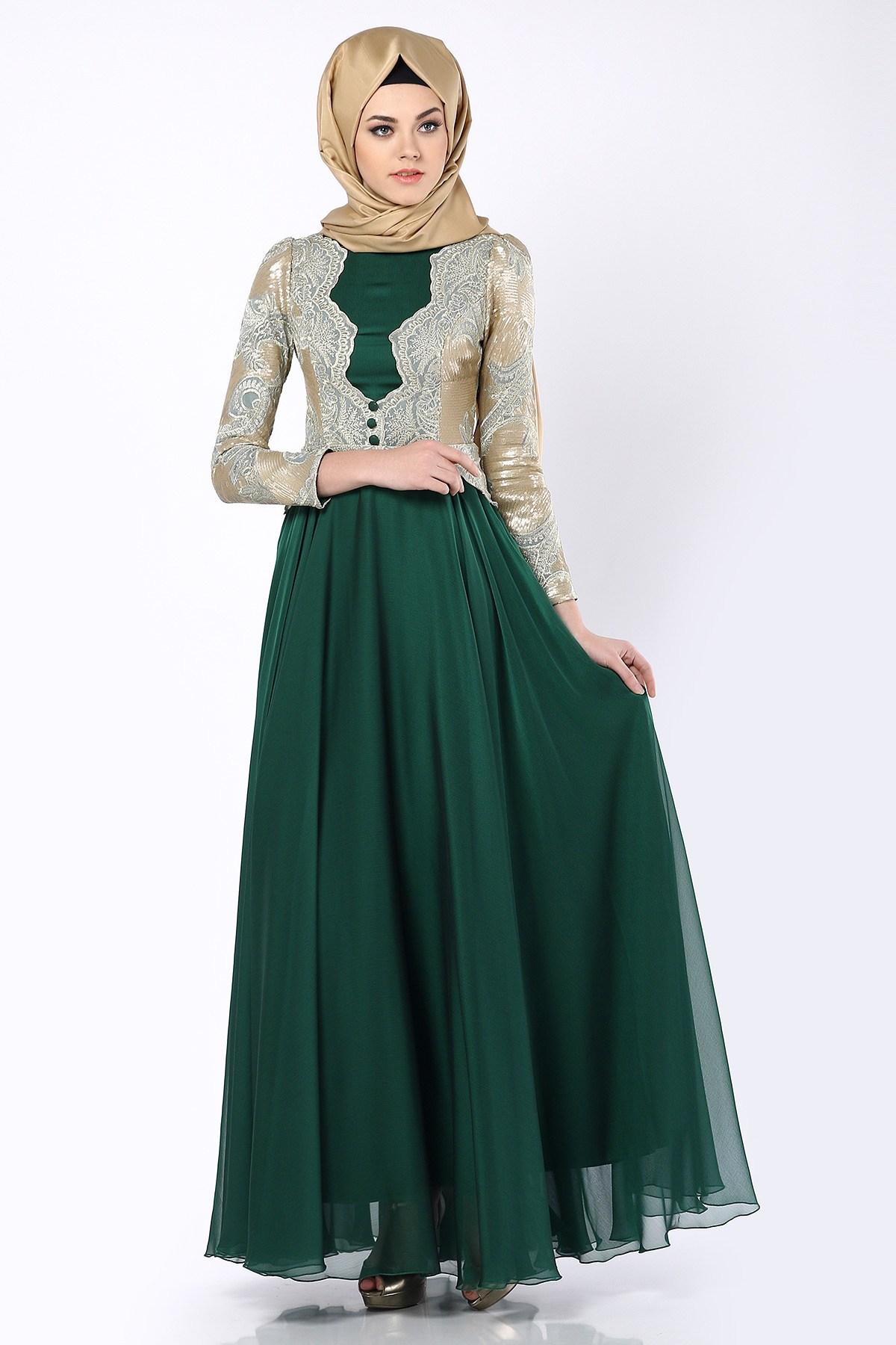 بالصور فساتين محجبات خروج , اروع فستان مناسب للخروج مخصص لكل بنت محجبة 4843 1