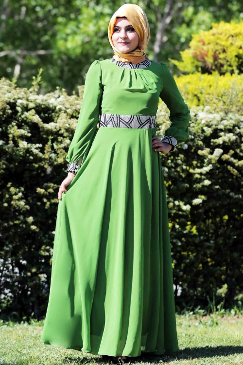 بالصور فساتين محجبات خروج , اروع فستان مناسب للخروج مخصص لكل بنت محجبة 4843 2