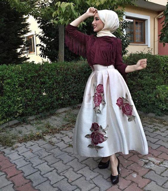 بالصور فساتين محجبات خروج , اروع فستان مناسب للخروج مخصص لكل بنت محجبة 4843 3
