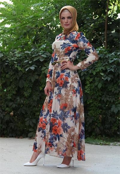 بالصور فساتين محجبات خروج , اروع فستان مناسب للخروج مخصص لكل بنت محجبة 4843 5