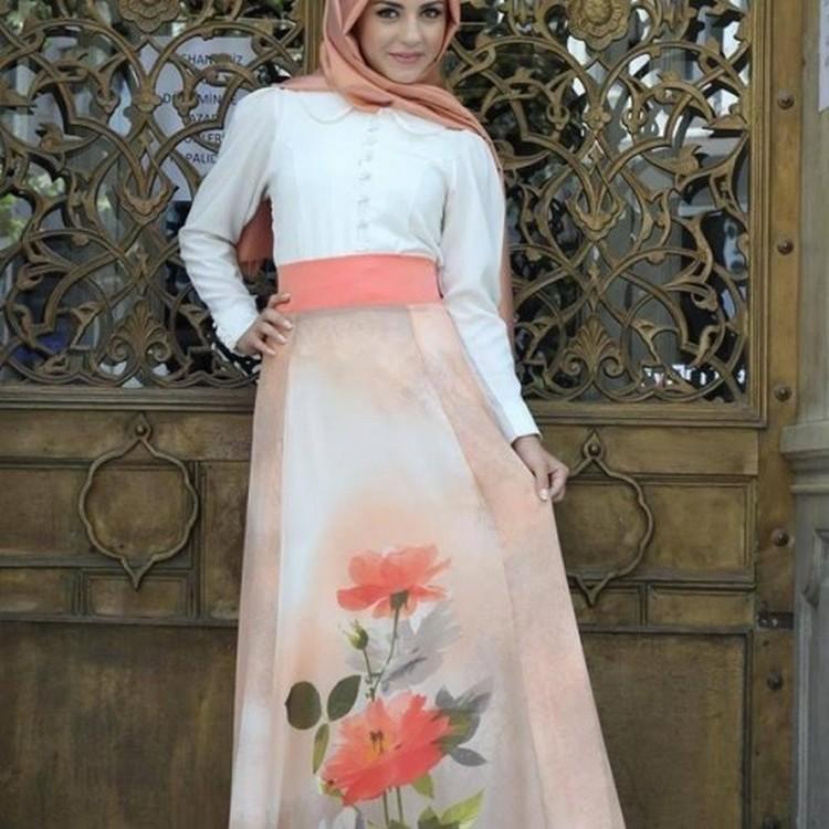 بالصور فساتين محجبات خروج , اروع فستان مناسب للخروج مخصص لكل بنت محجبة 4843 6