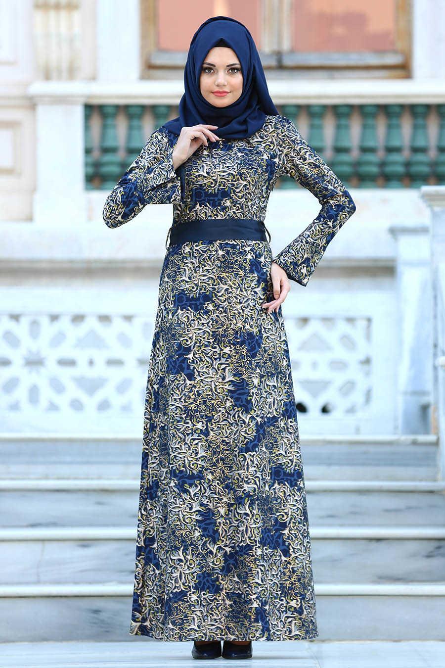 بالصور فساتين محجبات خروج , اروع فستان مناسب للخروج مخصص لكل بنت محجبة 4843 7