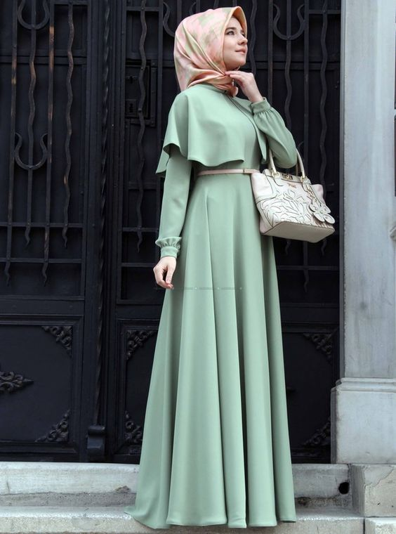 بالصور فساتين محجبات خروج , اروع فستان مناسب للخروج مخصص لكل بنت محجبة 4843 8