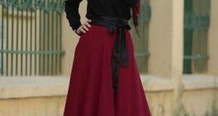 صورة فساتين محجبات خروج , اروع فستان مناسب للخروج مخصص لكل بنت محجبة