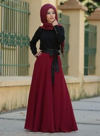 بالصور فساتين محجبات خروج , اروع فستان مناسب للخروج مخصص لكل بنت محجبة 4843