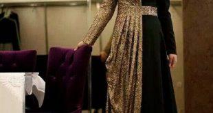 صورة فساتين محجبات سهرة , شاهدي اروع واحدث فستان سهرات مناسب للمحجبة