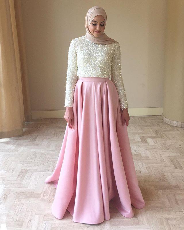 بالصور فساتين محجبات سهرة , شاهدي اروع واحدث فستان سهرات مناسب للمحجبة 4845 5