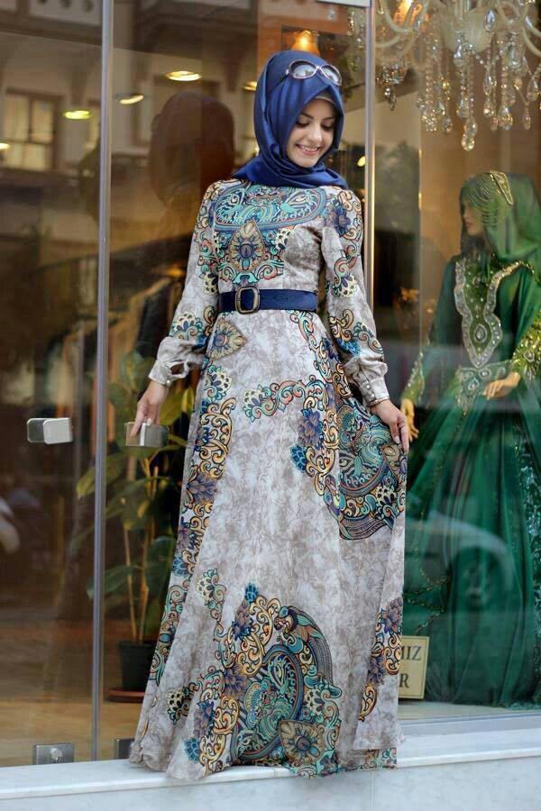 بالصور فساتين محجبات سهرة , شاهدي اروع واحدث فستان سهرات مناسب للمحجبة 4845 7