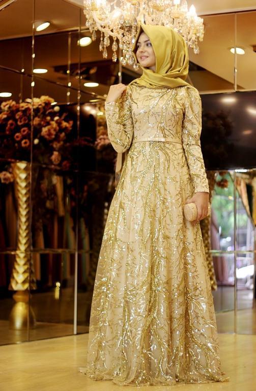 بالصور فساتين محجبات سهرة , شاهدي اروع واحدث فستان سهرات مناسب للمحجبة 4845 8