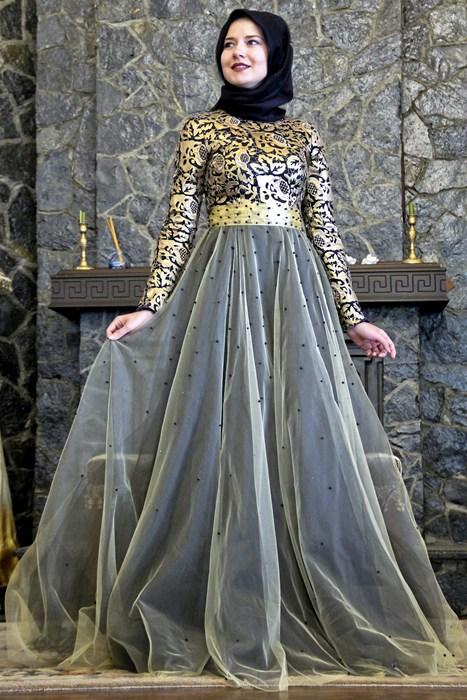 بالصور فساتين محجبات سهرة , شاهدي اروع واحدث فستان سهرات مناسب للمحجبة 4845 9