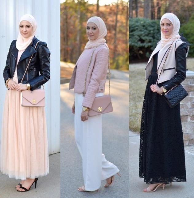 بالصور فساتين محجبات شتوية , شاهدي اروع فستان شتوي يليق بحجابك 4847 3