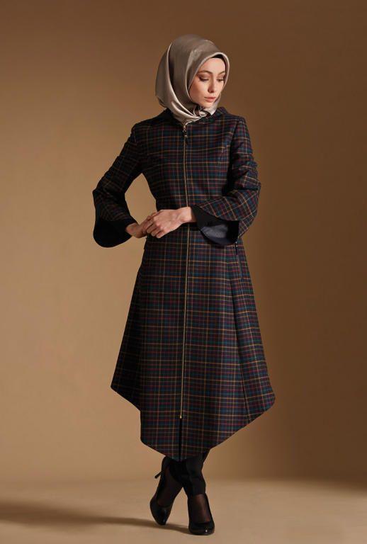 بالصور فساتين محجبات شتوية , شاهدي اروع فستان شتوي يليق بحجابك 4847 6