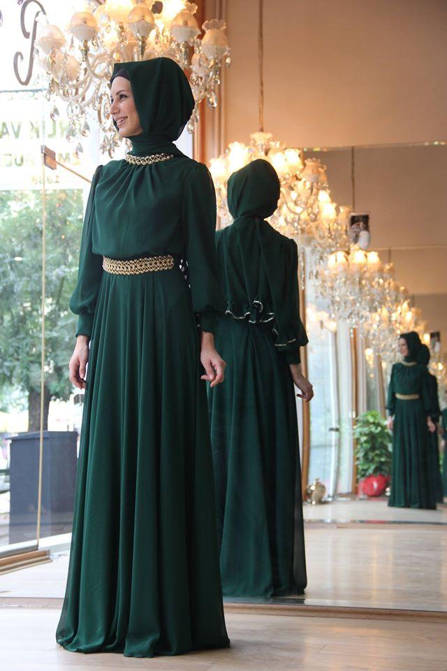 بالصور فساتين محجبات شيفون , روعة الشيفون لن تتخيليها لفستانك 4848 9