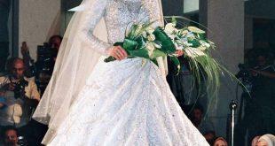 صور فساتين زفاف محجبات , اجمل فساتين بيضاء للعرائس