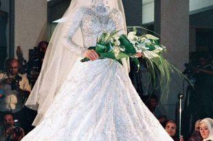 صورة صور فساتين زفاف محجبات , اجمل فساتين بيضاء للعرائس