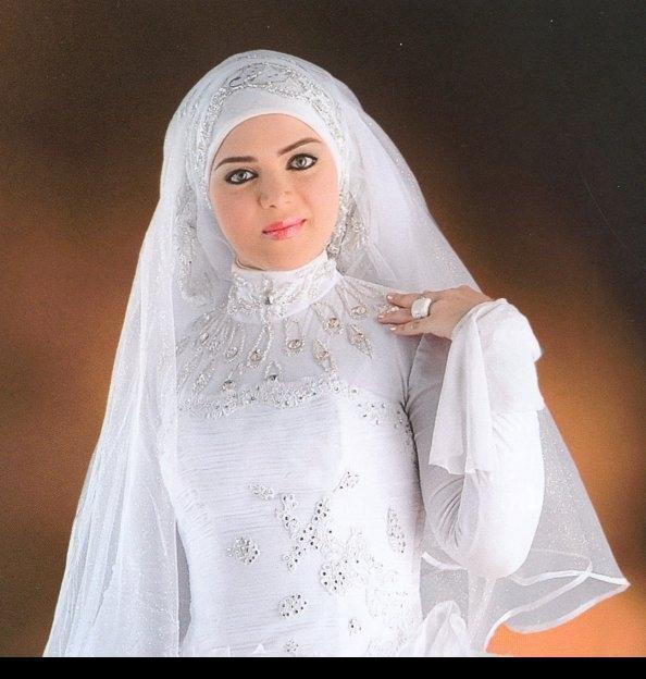 بالصور صور فساتين زفاف محجبات , اجمل فساتين بيضاء للعرائس 5161 4