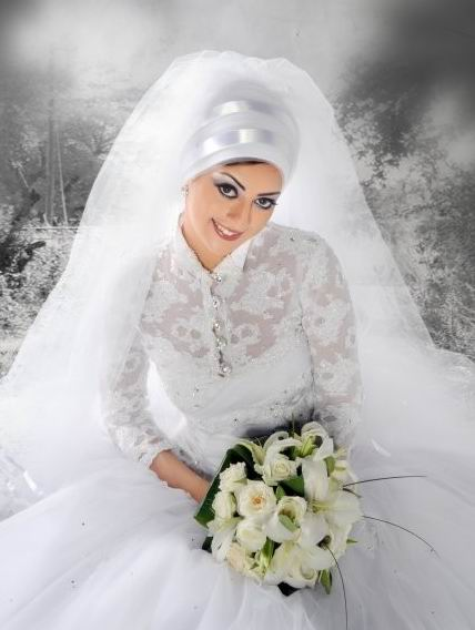 بالصور صور فساتين زفاف محجبات , اجمل فساتين بيضاء للعرائس 5161 6