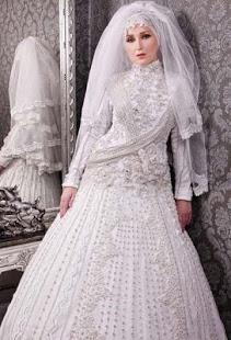 بالصور صور فساتين زفاف محجبات , اجمل فساتين بيضاء للعرائس 5161 9
