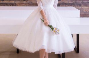 صورة فساتين زفاف قصيرة , احلى فساتين قصيرة جدا