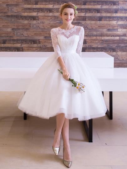 32e309840 فساتين زفاف قصيرة , احلى فساتين قصيرة جدا - صبايا كيوت