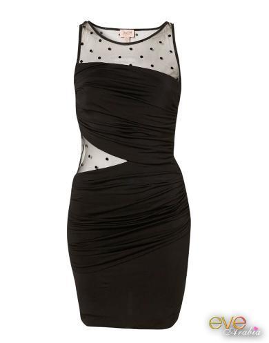 صورة فساتين سهرة سوداء قصيرة , اجمل فستان باللون الاسود