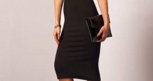 فساتين سهرة سوداء قصيرة , اجمل فستان باللون الاسود