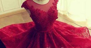 فساتين سواريه حمراء , فستان بناتى شيك