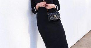 ملابس سوداء للمحجبات , شاهد شياكة اللبس الاسود للبنت المحجبة