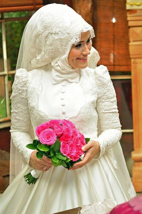 صورة ملابس اعراس , اروع تصميمات فساتين زفاف للمحجبات