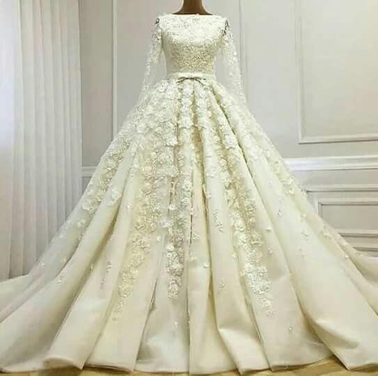 بالصور ازياء العروس , اروع فستان زفاف بالكمام 599 3